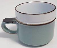 Denby Teacup Coffee Mug Blue Gray Speckles  PATTERN HELP?