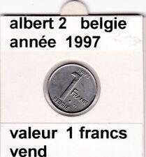 FB )pieces de albert 2  1 francs 1997  belgie