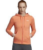 Adidas Women Hoodie Running Athletic Essentials Sporty Sweat Top Jacket EI0668