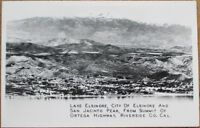 Lake Elsinore, CA 1940s Realphoto Postcard: Riverside County, California Cal