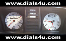 VOLKSWAGEN VW TRANSPORTER T3/T25 WITH CLOCK (1979-90) - 100mph - WHITE DIAL KIT