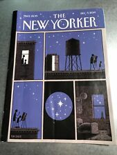 """New Yorker Magazine December 9 2019 Cover: """"Rooftop Astronomy"""" by Tom Gauld"""