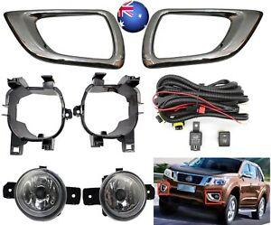Full Fog Light Kit+Holder Driving Lamp Kit For Nissan Navara D23 NP300 2015-2020