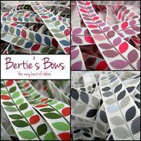 Bertie's Bows Variegated Leaf Print 16mm Grosgrain Ribbon, 4 Designs - Multi Buy