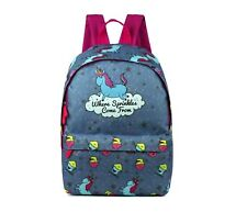 David & Goliath Where Sprinkles Come From Girls Backpack - School Bag Grey
