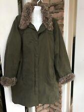 Women's Woolrich Parka Anorak Jacket Coat Sz 2XL removable Fur Collar Cuffs EC