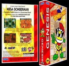 Mega Bomberman - Sega Genesis Reproduction Art Case/Box No Game.