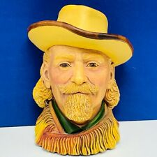 Bosson Legend Chalkware face bust figurine wall hanging Buffalo Bill Cody signed