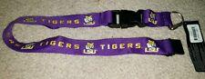 NCAA LSU Tigers Purple Breakaway Lanyard Keychain NWT Free Shipping