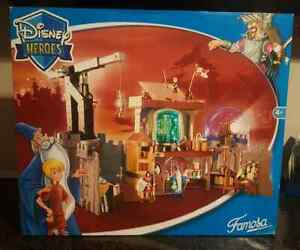 Disney Heroes Famosa Sword in the Stone Merlin's Laboratory Playset rare toys