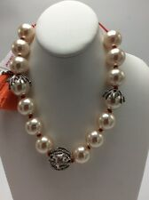 $125 Betsey Johnson Boathouse Faux Pearl Slide Necklace. BP-28
