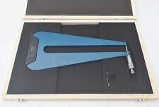 Garganta Profunda Micrómetro 0-25mm con 300mm profundidad de garganta
