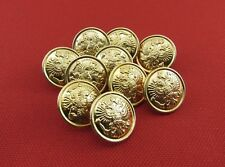 Metal Buttons Army Uniform Russian Imperial Double-Headed Eagle, 10 Pieces