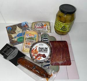 Luxury Spanish Meat Cheese Olive Fruit Selection Box Iberico Ham Chorizo Hamper