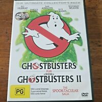 Ghostbusters / Ghostbusters II Ultimate Collector's 2 DVD R4 Like New! FREE POST