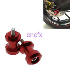 Red 8mm Swingarm Spools Slider TRIUMPH Daytona 675/R Street Triple/R 11-14 CNC