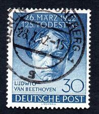 Germany West Berlin 1952 Beethoven Occupation Stamp #9N80 Used