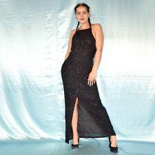 Luxury Rhinestone Glitter Maxi Dress M Evening Ball Sheath Cocktail