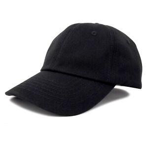 DALIX Unisex Youth Childrens Cotton Cap Adjustable Plain Hat