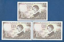 ESPAÑA // SPAIN -- TRIO 100 PESETAS ( 1965 ) -- EBC- // aXF -- SIN SERIE .