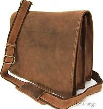 "Messenger 10"" Laptop Shoulder Bag Real Leather Tan Visconti New 16025 BNWT"