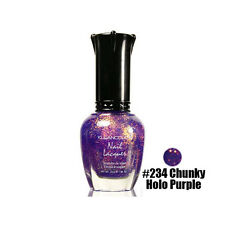 1 Kleancolor Nail Polish Lacquer #234 Chunky Holo Purple Manicure