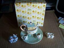 1996 PRECIOUS MOMENTS NOAHS ART MINI TEA SET WITH/ BOX BEAUTIFUL SET