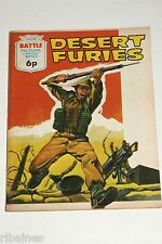 Battle Picture Library Comic, Number 628, Desert Furies, British Pocket