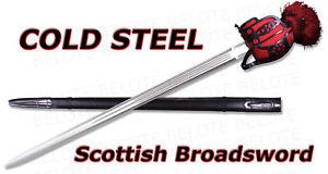 Cold Steel Scottish Broad Sword + Leather Scabbard 88SB