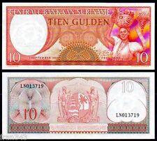 SURINAM SURINAME 10 Gulden 1963 Pick 121 SC  / UNC