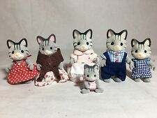 Calico critters/sylvanian families Fisher Cat family of 6 With Grandmother