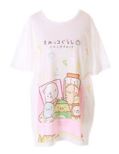 TP-181-11 Bento Box Tiere Snacks süß Weiß Grafik langes T-Shirt Harajuku Kawaii
