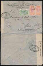 FRENCH GUINEA 1916 WW1 SCOA ENVELOPE MILITARY CENSOR MAMUN CANCELS KANKAN HS