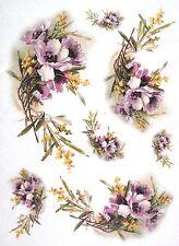 CIALDE di riso per decoupage Decopatch Scrapbook craft Sheet VINTAGE pasque-flower