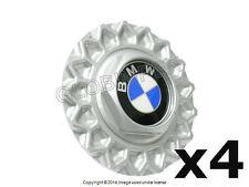 """BMW E32 E34 Wheel Center Cap (4) for 15"""" Style 5 Cross-Spoke Wheel GENUINE"""