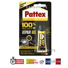 PATTEX 100 % REPARE GEL COLLE 1 TUBE 8 Gr EXTRA FORTE CERAMIQUE VERRE METAL