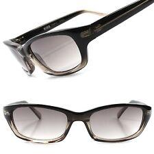 Classic Stylish Dapper Black & Gray Two Tone Frame Mens Rectangle Sunglasses