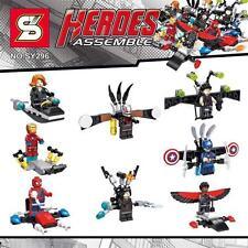 8pcs Super hero ant Falcon Winter Soldier Hawkeye Black Widow Building Toys#296