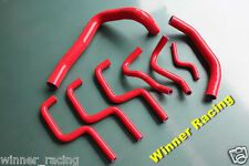 Holden Commodore VL 3.0L 6cyl./L6 RB30E/T silicone radiator coolant hose kit RED