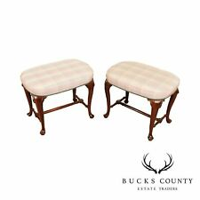 Queen Anne Style Quality Pair Benches