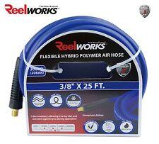 "REELWORKS Hybrid Polymer Air Hose 3/8"" x 25 ft., Flexible, Kink Resistant"