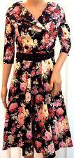 New Women's Joe Browns Julie Floral Midi Skater Dress With Belt Size UK 8 RRP£64