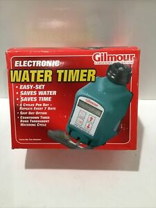 Gilmour Single Outlet Electronic Water Timer Easy Set Saves Water Saves Time