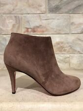 NIB Christian Louboutin Belle 85 Brown Chatain Suede Zipper Heel Bootie 37 $895
