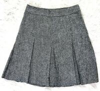 Tommy Hilfiger Women's Drop-Pleat A-Line Skirt 8 Gray Wool Blend