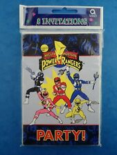 Vintage 1990's Unopened POWER RANGERS PARTY INVITATIONS Mighty Morphin Saban