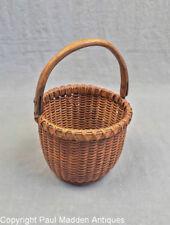 """Vintage 4"""" Nantucket Lightship Basket by Irving Burnside"""