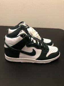 New Nike Dunk High SP 'White/Spartan Green' Size 9 (CZ8149-100) *FREE SHIP*
