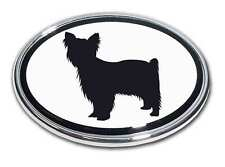 Yorkie Chrome Car Truck Emblem High Quality Made in the Usa! *New*