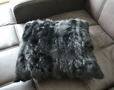 Sofa Pillow Case Real Farm Rabbit Fur Genuine Vintage Home Decor Newest Fashion